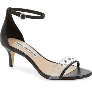 Karl Lagerfeld Dixie Studded Ankle-Strap Sandals